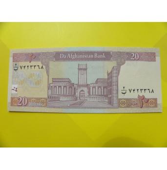 bankovka 20 afghání