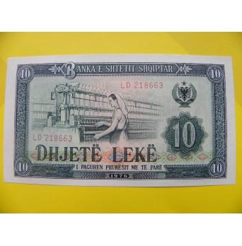 bankovka 10 leků  Albánie - série LD