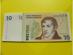 bankovka 10 pesos - série N
