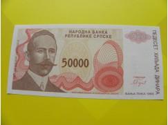 bankovka 50 000 dinárů - série A