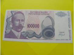 bankovka 100 000 dinárů - série A