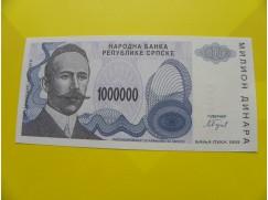 bankovka 1 000 000 dinárů - série A