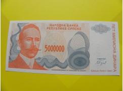 bankovka 5 000 000 dinárů - série A