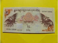 bankovka 5 ngultrum - série J