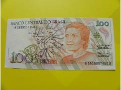 bankovka 100 cruzeiros - série A