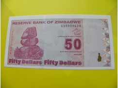 bankovka 50 Zimbabwských dolarů - série AA