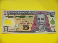bankovka 5 quetzal - série C