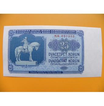 25.- Kčs/1953   český tisk série MH