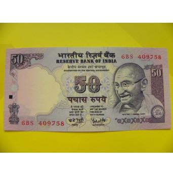 bankovka 50 indických rupií/2005-2011