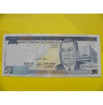 bankovka 50 lempiras série AF
