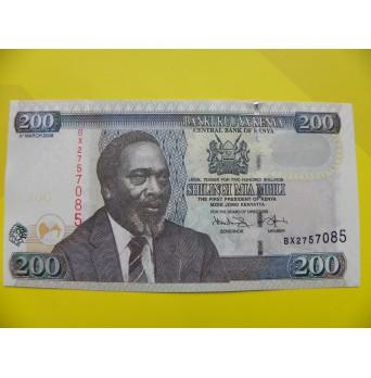 bankovka 200 šilinků série BX
