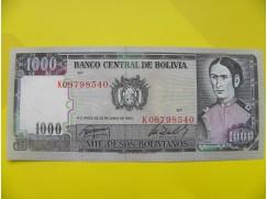 bankovka 1000 Bolivijských peso - série K