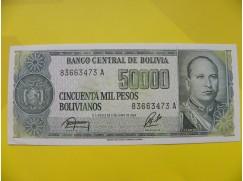 bankovka 50000 Bolivijských peso - série A