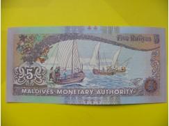 bankovka 5 Maledivských rupií - série J