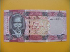 bankovka 5 liber Jižní Sudán - série AF