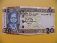 bankovka 20 liber Jižní Sudán - série AB