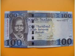 bankovka 100 liber Jižní Sudán - série AB