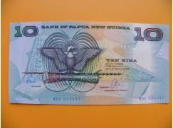 bankovka 10 kina Papua - Nová Guinea