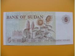 bankovka 5 sudánských dinárů Sudán 1993 - série GC