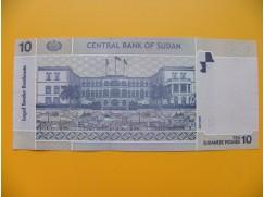 bankovka 10 sudánských liber Sudán 2006 - série DM
