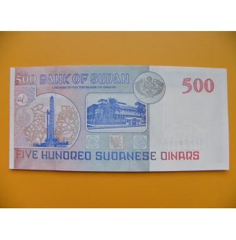 bankovka 500 sudánských dinárů Sudán 1998 - série RK