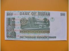 bankovka 1000 sudánských dinárů Sudán 1996 - série MH