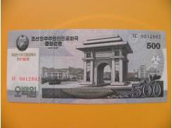 bankovka  500 wonů Severní Korea  2008