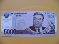 bankovka  5000 wonů Severní Korea  2008