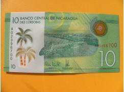 bankovka 10 cordobů - Nicaragua - série A- polymar