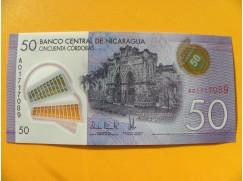 bankovka 50 cordobů - Nicaragua - série A- polymar