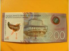 bankovka 200 cordobů - Nicaragua - série A- polymar