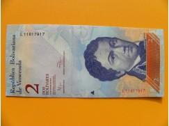 bankovka 2 bolívary Venezuela - série L