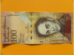 bankovka 100 bolívarů Venezuela - série CE