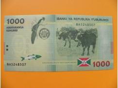 bankovka 1000 franků Burundi  - série BA
