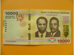 bankovka 10000 franků Burundi  - série EC