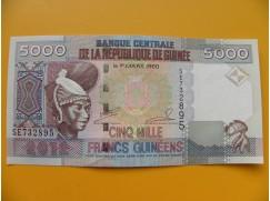 bankovka 5000 franků Guiena/2012  - série SE