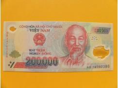bankovka 200000 dongů Vietnam -polymar - série NB