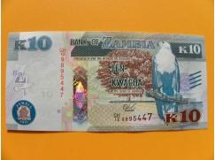 bankovka 10 kwachů Zambie/2015 - série CH