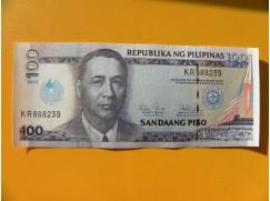 bankovka 100 peso Filipíny/2013 - série KR