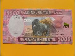 5000 Rwandských franků - série AP