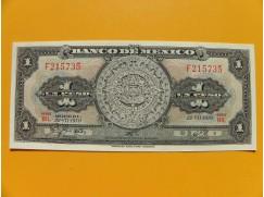 bankovka 1 peso Mexico 1970 série BIL