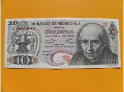 bankovka 10 peso Mexico 1975 série 1DY