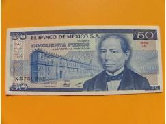 bankovka 50 pesos Mexiko 1981 série JK