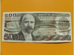 bankovka 500 pesos Mexiko 1984 série EG