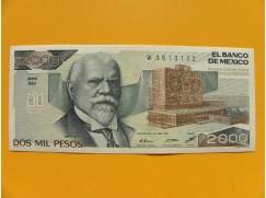 bankovka 2000 pesos Mexiko 1987 série BM