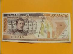 bankovka 5000 pesos Mexiko 1987 série GZ