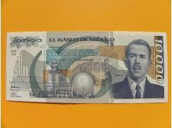 bankovka 10000 pesos Mexico 1991 série QD