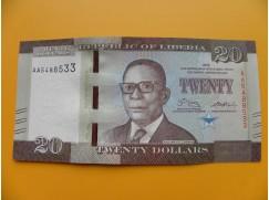 bankovka 20 dolarů Libérie 2016 - série AA