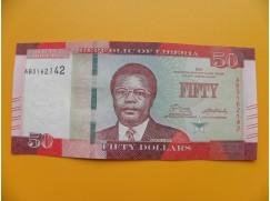 bankovka 50 dolarů  Libérie 2016 - série AB