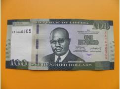 bankovka 100 dolarů  Libérie 2016 - série AA
